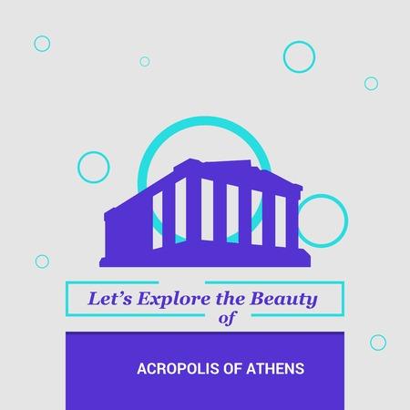 Lassen Sie uns die Schönheit der Akropolis von Athen, Griechenlands Nationale Sehenswürdigkeiten erkunden