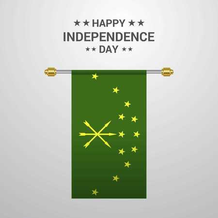 Adygea Independence day hanging flag background