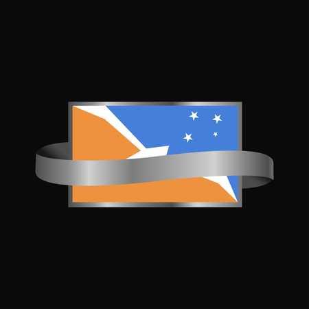 Tierra del Fuego province Argentina flag Ribbon banner design