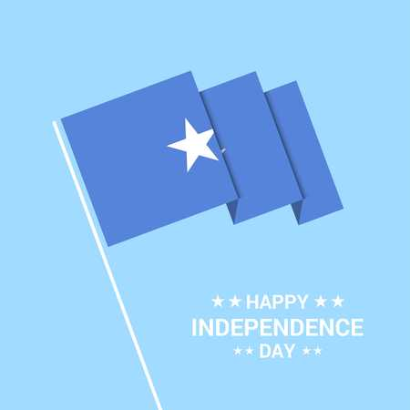 Somalia Independence day typographic design with flag vector