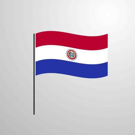 Paraguay waving Flag