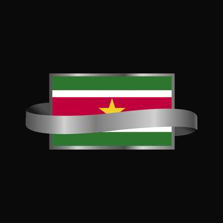 Suriname flag Ribbon banner design