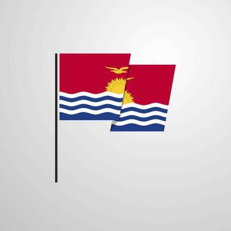 Kiribati waving Flag design vector