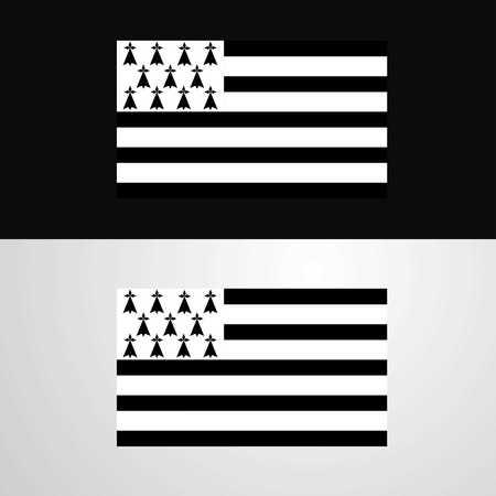 Brittany Flag banner design