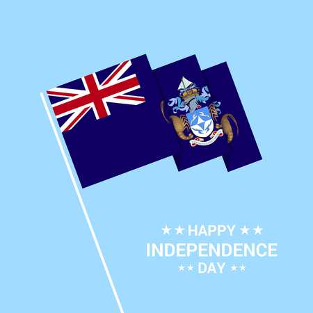 Tristan da Cunha Independence day typographic design with flag vector