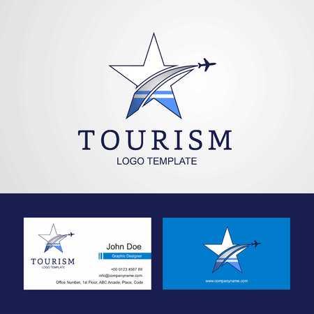 Travel Altai Republic flag Creative Star Logo and Business card design  イラスト・ベクター素材
