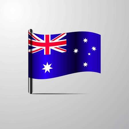 Australia waving Shiny Flag design vector