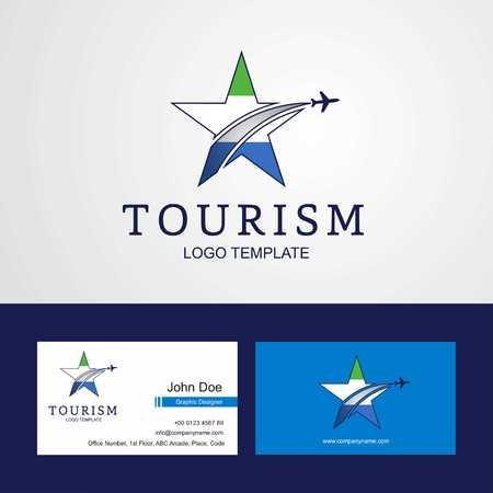 Travel Sierra Leone flag Creative Star Logo and Business card design