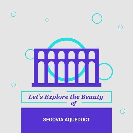 Lets Explore the beauty of Segovia Aqueduct, Spain National Landmarks