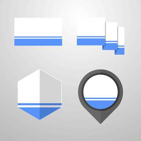 Altai Republic flag design set vector