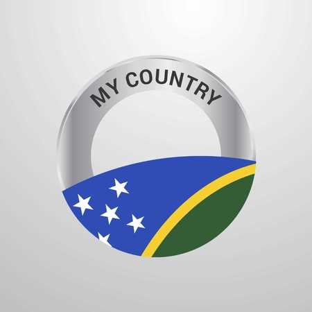 Solomon Islands My Country Flag badge