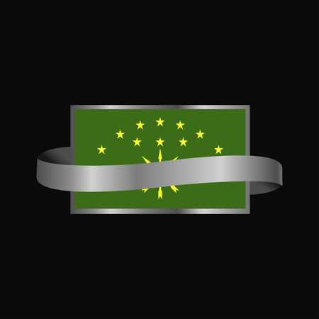 Adygea flag Ribbon banner design