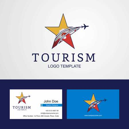 Travel Bhutan flag Creative Star Logo and Business card design