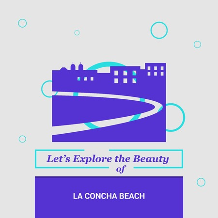 Lets Explore the beauty of La Concha Beach, Spain National Landmarks Ilustração