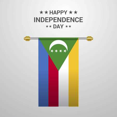 Democratic Republic of the Congo Independence day hanging flag background Çizim