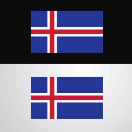Iceland Flag banner design Ilustração