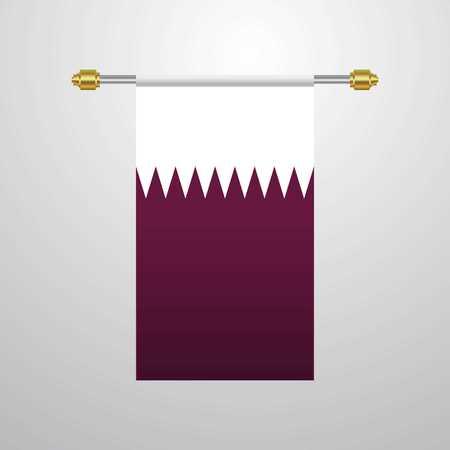 Qatar hanging Flag