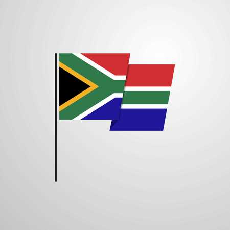 South Africa waving Flag design vector Illustration