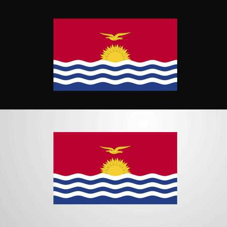 Kiribati Flag banner design Illustration