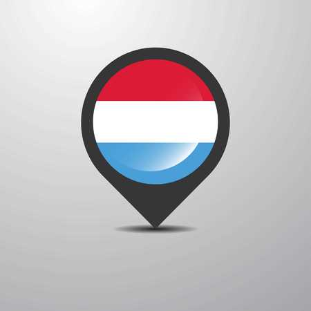 Luxembourg Map Pin