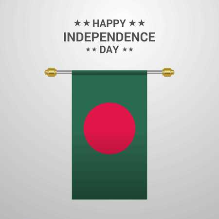 Bangladesh Independence day hanging flag background