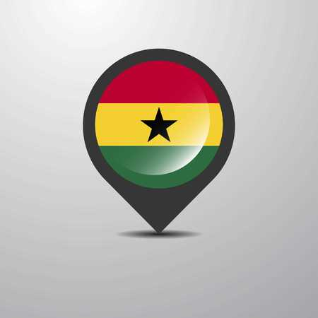 Ghana Map Pin