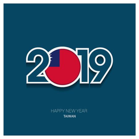 2019 Taiwan Typography, Happy New Year Background