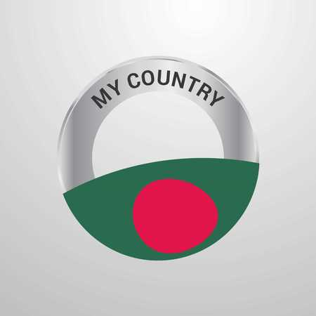 Bangladesh My Country Flag badge