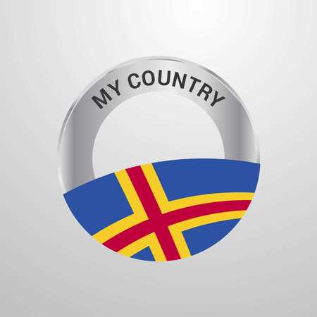 Aland My Country Flag badge