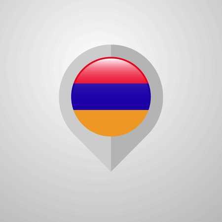 Map Navigation pointer with Armenia flag design vector Stock Vector - 118298004