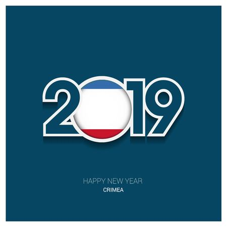 2019 Crimea Typography, Happy New Year Background