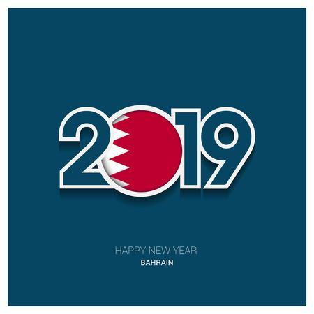 Typographie de Bahreïn 2019, fond de bonne année