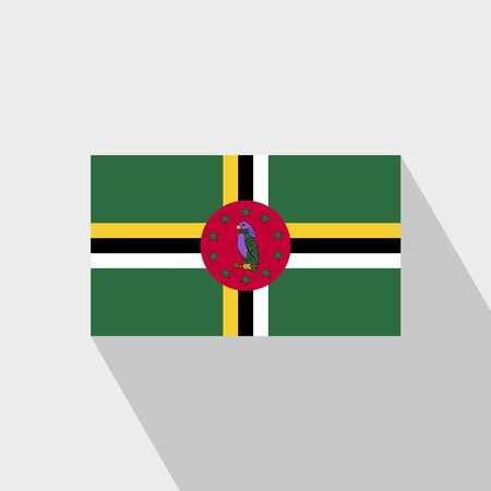 Dominica flag Long Shadow design vector