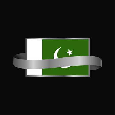 Pakistan flag Ribbon banner design