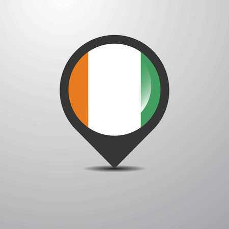 Cote d Ivoire / Ivory Coast Map Pin 写真素材 - 118298158