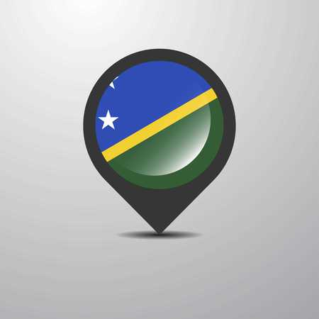 Solomon Islands Map Pin Çizim