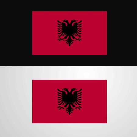 Albania Flag banner design Vektorové ilustrace