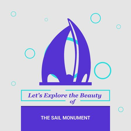 Lets Explore the beauty of The Sail Monument Manama, Bahrain National Landmarks