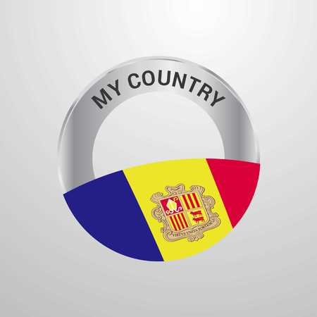 Andorra My Country Flag badge