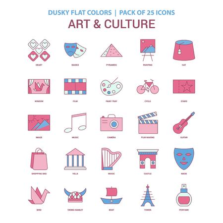 Art and Culture icon Dusky Flat color - Vintage 25 Icon Pack
