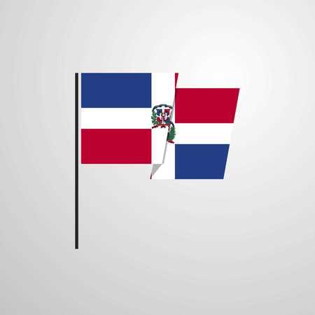 Dominican Republic waving Flag design vector Ilustração
