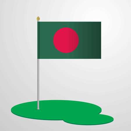 Bangladesh Flag Pole Illustration