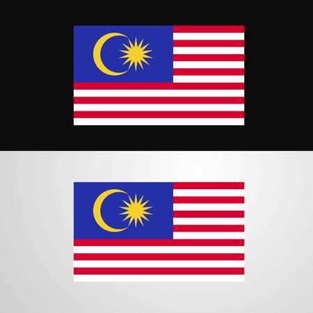 Malaysia Flag banner design