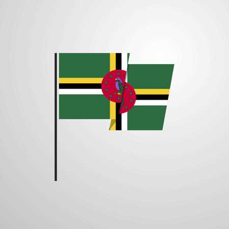 Dominica waving Flag design vector