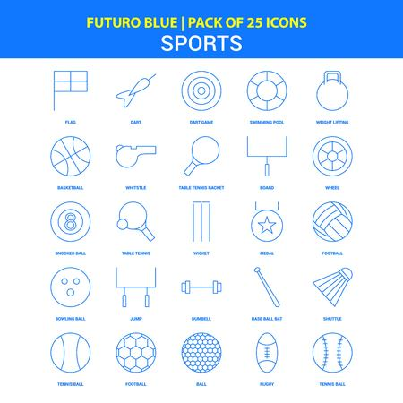 Sports Icons - Futuro Blue 25 Icon pack