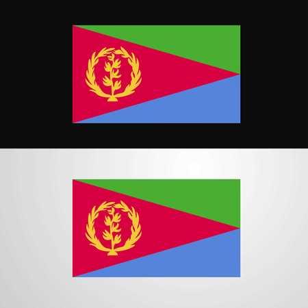 Eritrea Flag banner design Illustration