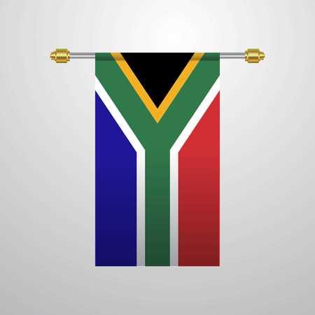 South Africa hanging Flag Illustration