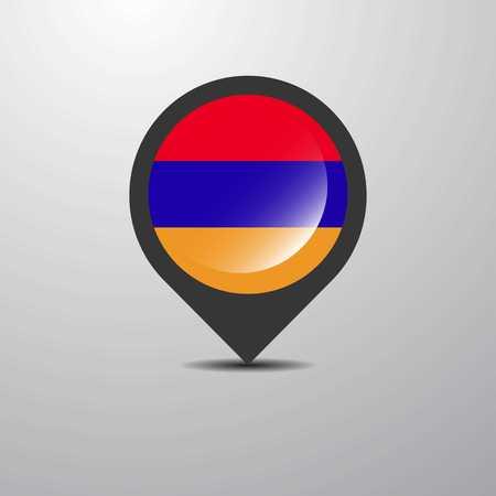 Armenia Map Pin Stock Vector - 112091806