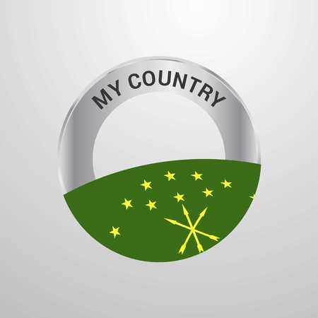 Adygea My Country Flag badge