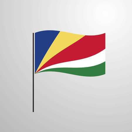 Seychelles waving Flag